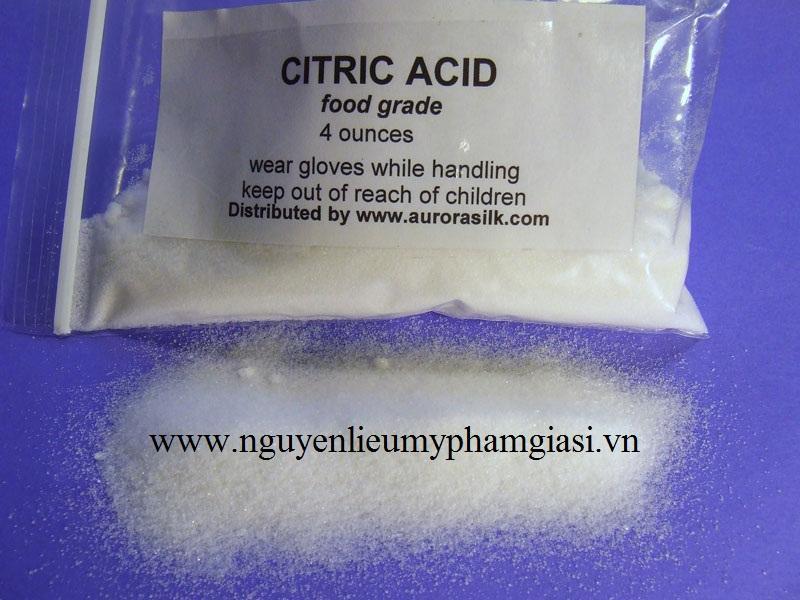 Nguyên liệu làm mỹ phẩm Acid citric – Cung cấp Acid citric giá sỉ