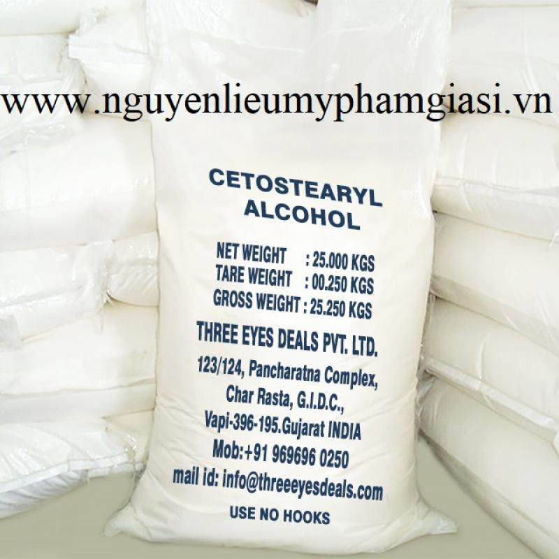 Cetostearyl alcohol nguyên liệu mỹ phẩm - Cung cấp nguyên liệu làm mỹ phẩm TPHCM