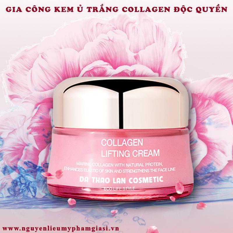 Gia công kem ủ trắng collagen-Kem dưỡng da collagen, gia công mỹ phẩm