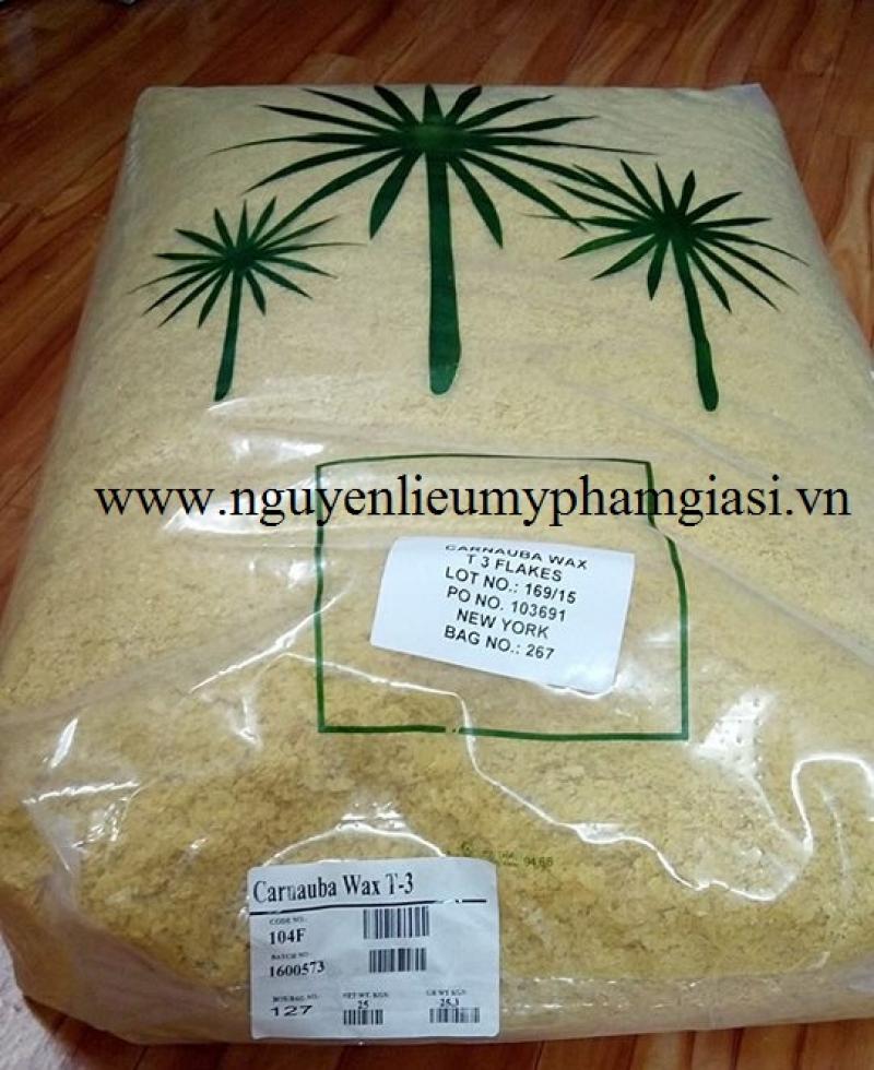 Sáp Carnauba (Carnauba wax) – Nguyên liệu mỹ phẩm Sáp Carnauba giá sỉ