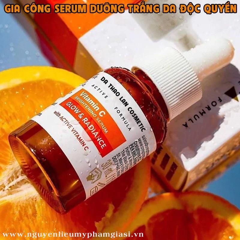Gia công serum dưỡng trắng da- Serum vitamin C, gia công mỹ phẩm