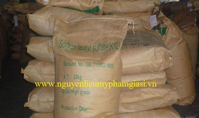 SLS (Sodium Lauryl Sulfate) nguyên liệu làm mỹ phẩm TPHCM