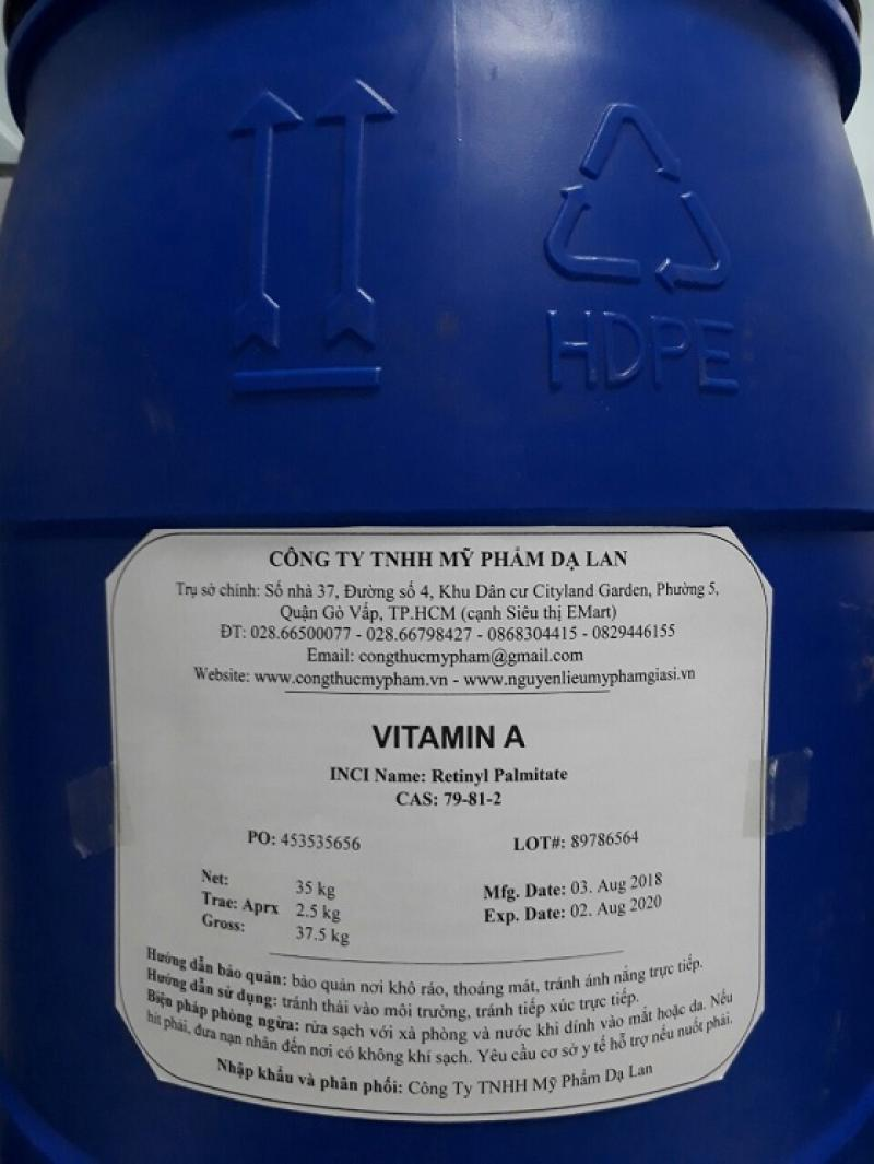 Vitamin A nguyên liệu mỹ phẩm – Vitamin A giá sỉ TPHCM
