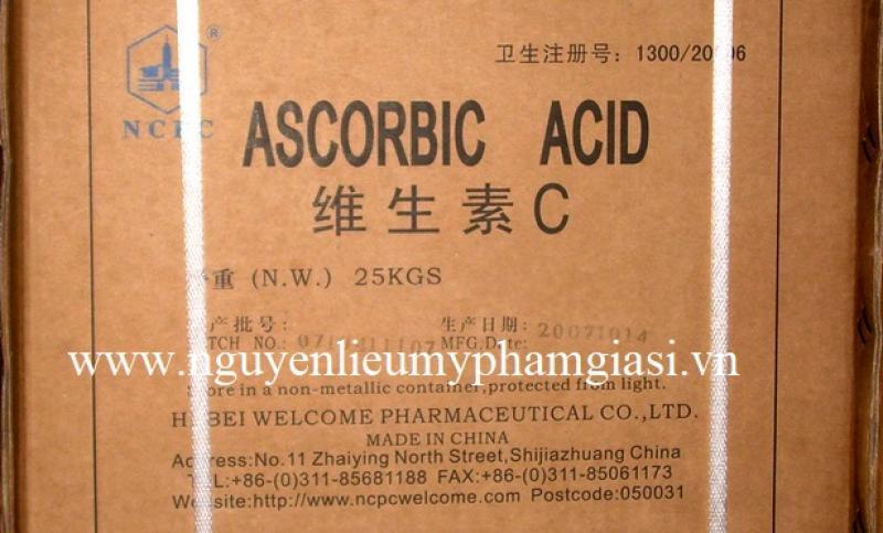Vitamin C (acid ascorbic) – Cung cấp nguyên liệu mỹ phẩm giá sỉ
